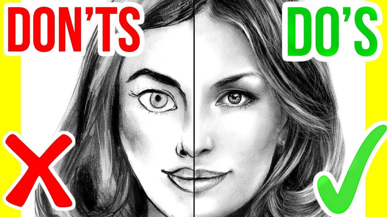 DO'S & DON'TS: How To Draw A Face | Step By Step Drawing ...