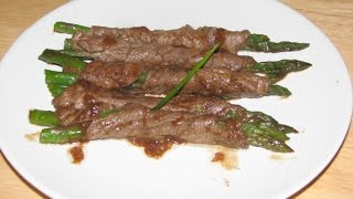 Roast Beef and Asparagus Wrap