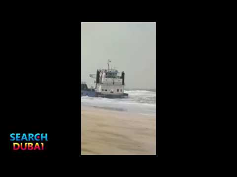 Bad Weather in UAE: Ship Grounded in Sharjah