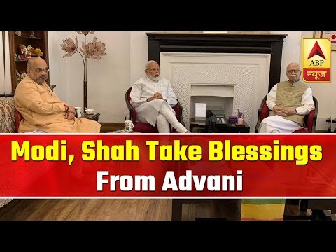 PM Modi, Amit Shah Take Blessings From LK Advani At His Residence | ABP News