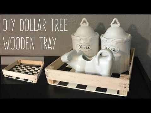 DIY Dollar Tree Wood Tray-Simple Woodworking