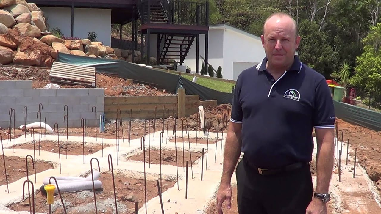Morcraft homes sloping site construction youtube for On site home builders