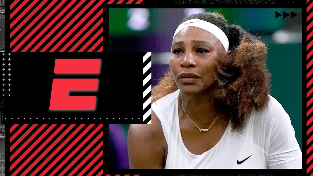 Download Serena Williams out of Wimbledon after slipping on Centre Court, injuring leg