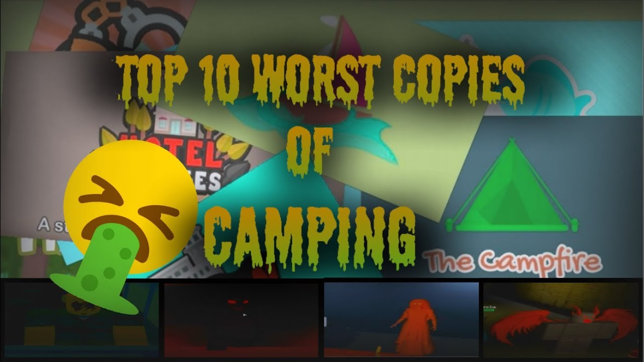 The Top 10 Worse Horror Games Like Camping In Roblox Youtube