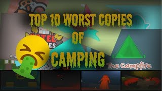 THE TOP 10 WORSE HORROR GAMES LIKE CAMPING IN ROBLOX