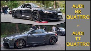 Audi R8 V8 4.2 Quattro vs Audi TT 3.2T Quattro - 4x4 tests on rollers