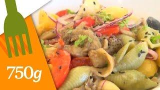 Recette de Salade de pâtes multicolores - 750g