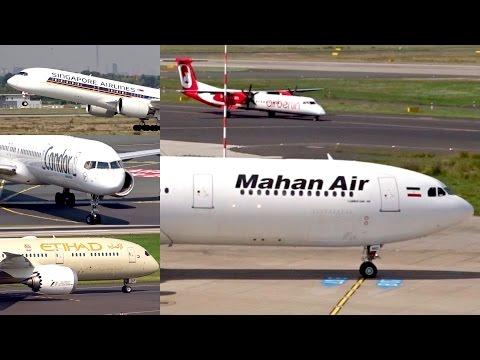 Beautiful summer planespotting at Düsseldorf Airport | A350, A340, B787, B757,… | Compilation