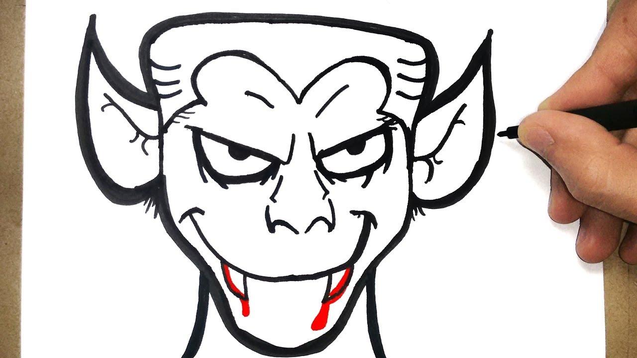 How To Draw Halloween Vampire Youtube