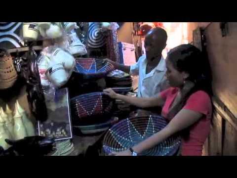Shopping at Kimironko market in Rwanda in Africa