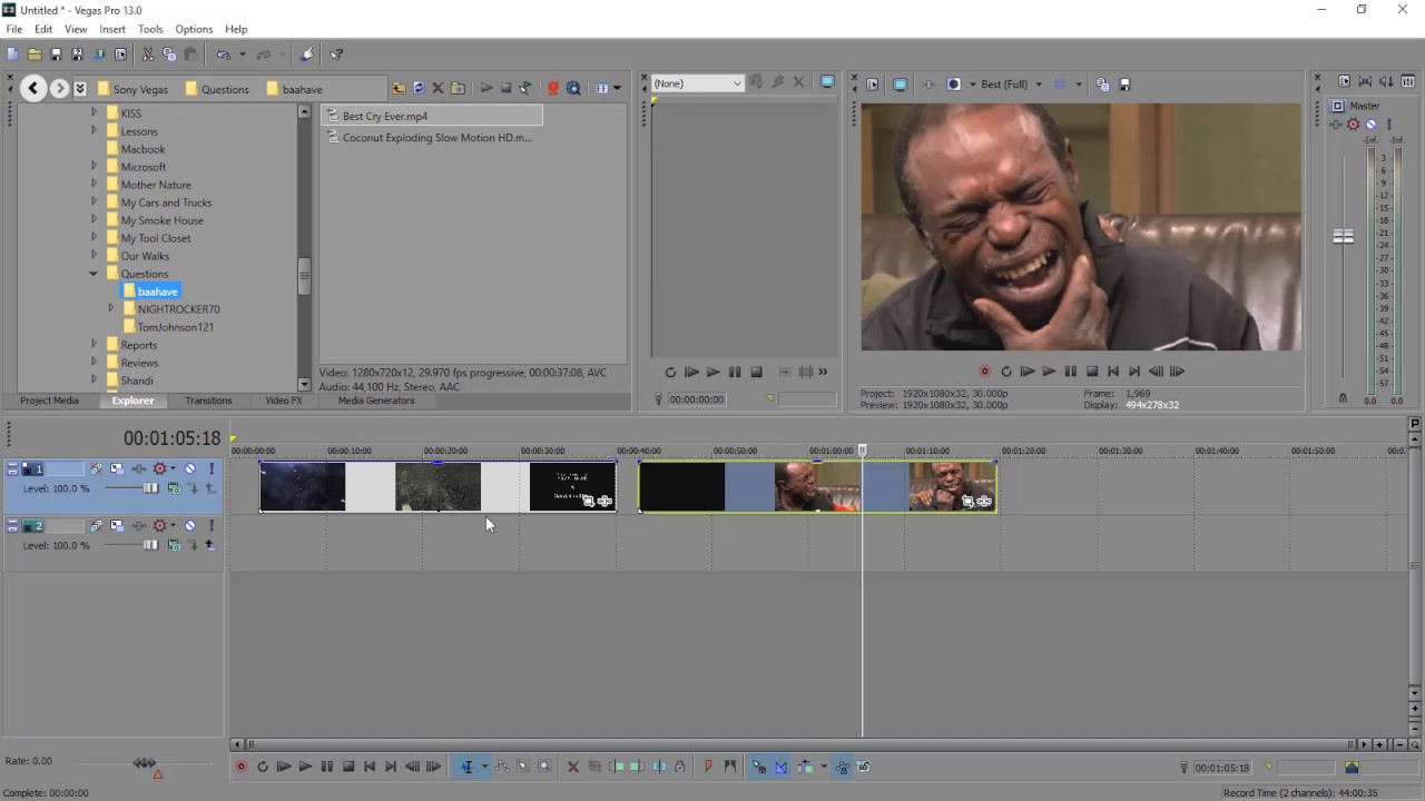 how to change video transparency sony vegas