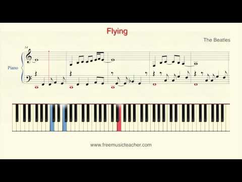 "How To Play Piano: The Beatles ""Flying"" Piano Tutorial by Ramin Yousefi"
