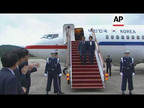 SKorean President Moon Jae-in returns from NKorea summit