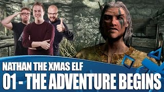 Let's Play Skyrim Special Edition - The Adventures of Nathan The Xmas Elf (Ep01)