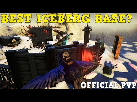 ARK:Survival Evolved - Best ICEBERG Snow Base On Official Servers! - Tour / Design!