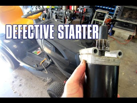 HOW-TO Replace A Lawn Tractor Starter - YouTube