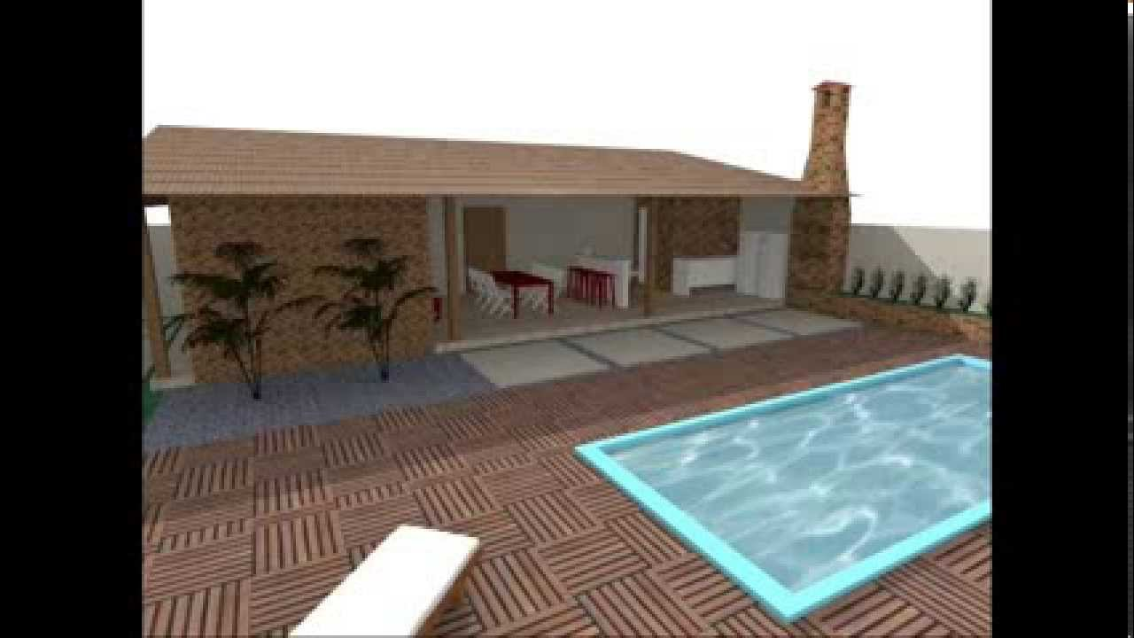Garagem ampla com churrasqueira e piscina youtube for Piscina 50 metros sevilla