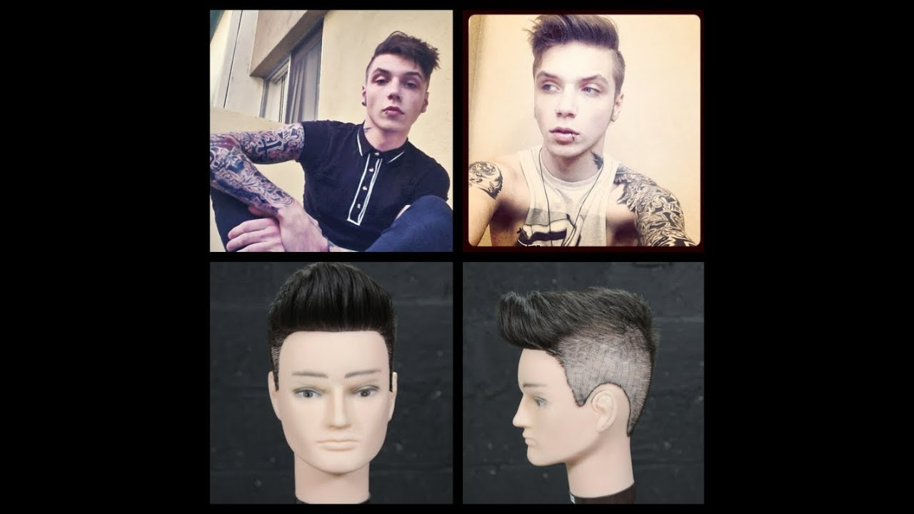 andy biersack - black veil brides - haircut tutorial - thesalonguy