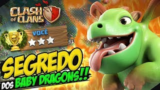 O SEGREDO PARA SE ATACAR COM BABY DRAGONS!! - TUTORIAL BASE DO CONSTRUTOR - CLASH OF CLANS