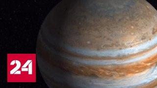 Космический зонд Juno передал подробные снимки Юпитера