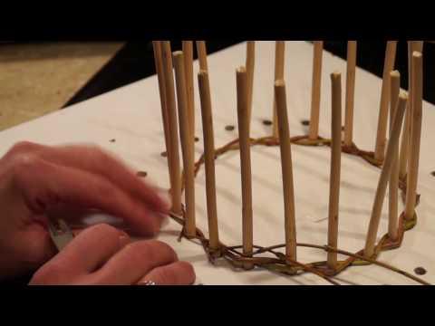 Плетение из лозы видео уроки для начинающих
