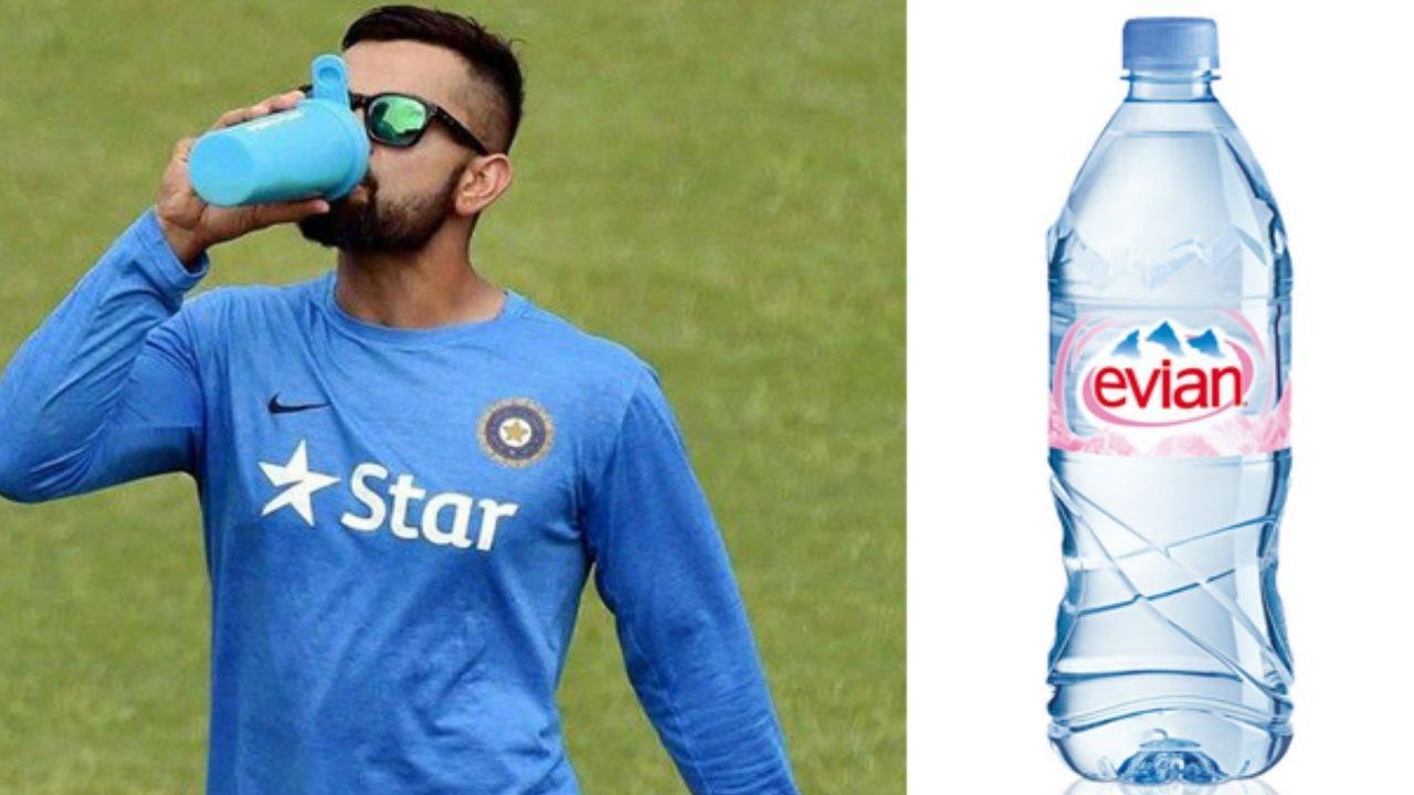 Image result for OMG: 600 रुपये की बोतल का पानी पीते है विराट