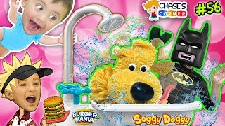 Chases Corner: SOGGY DOGGY & BURGER MANIA GAME w/ Batman (REAL LIFE PAPA