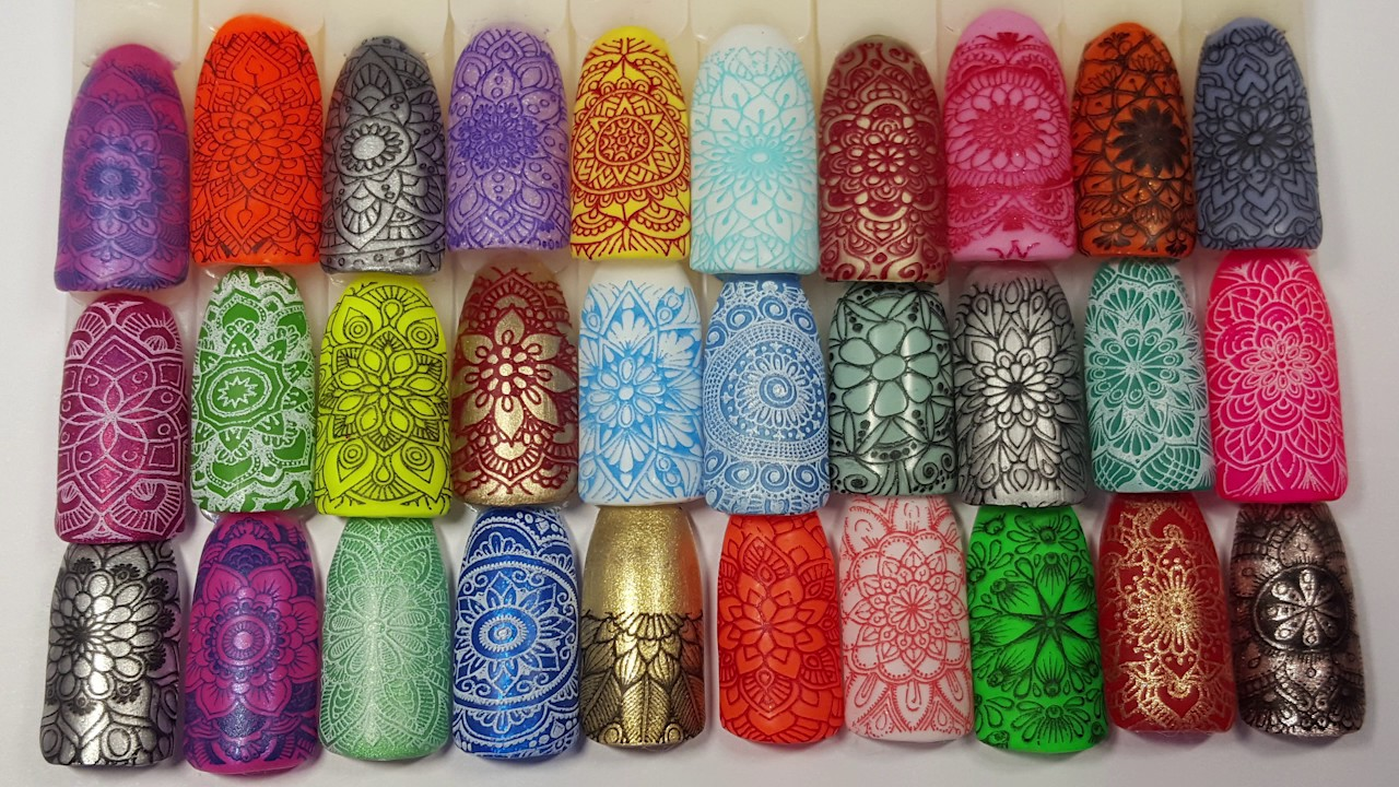 Lina Nail Art Stamping Plate Mad For Mandalas 01 Full Swatch Review ...