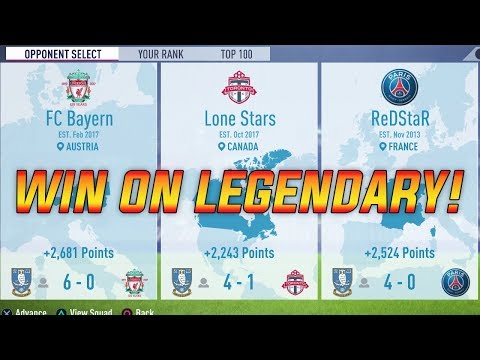 FIFA 18 - How to Win Legendary Squad Battles on FIFA 18 Ultimate Team