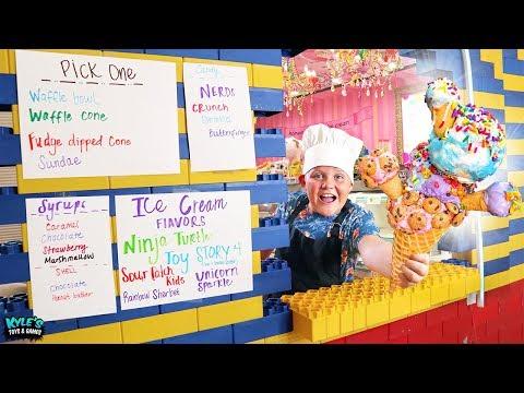 Surprise Giant LEGO Drive Thru Ice Cream Sundae Restaurant Game