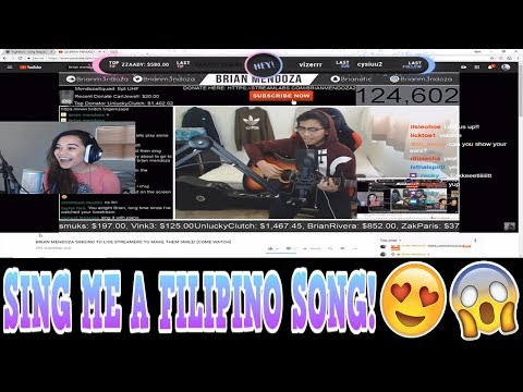 TWITCH & YOUNOW REACTION   I SANG HER A FILIPINO SONG! [MUST WATCH]