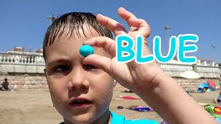 Finger Family Song & learn Colors for Kids with Sea Monster Educational Video for Children
