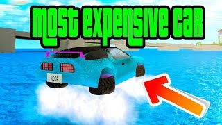 (UPDATE) Buying The NEW Thunderbird Hovercar In Roblox Mad City (Most Expensive Car)