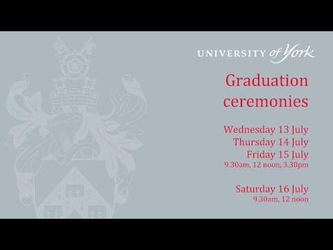 Summer Graduation 2016: Ceremony 3, 13 July 3.30pm