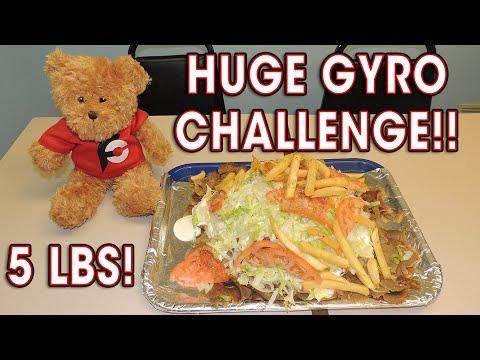 5lb Greek GYRO Eating Challenge w/ Ramsey Hilton!!