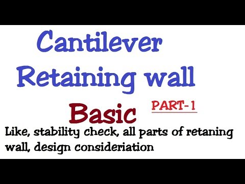 Cantilever retaining wall basic information (part-1) by Para