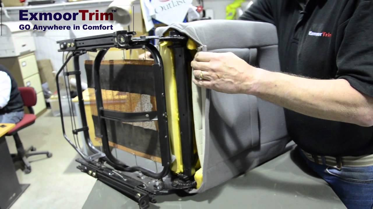 Part 1 Exmoor Trim Discovery Seat ReTrim Kit  YouTube