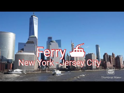 New York - Jersey City Commute In Ferry  #nyc #JerseyCity