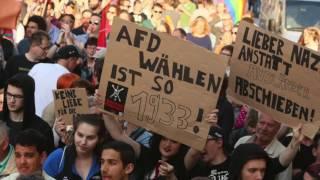 AfD und Gegendemonstrationen in Paderborn mit Björn Höcke