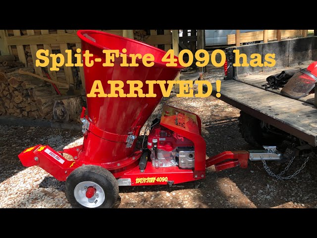 NEW ARRIVAL!! Split-Fire 4090 Wood Chipper FIRST STARTUP (129)