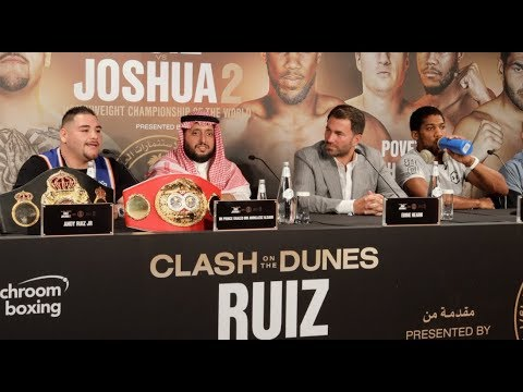 ANDY RUIZ JR v ANTHONY JOSHUA 2 - FULL FINAL PRESS CONFERENCE (SAUDI ARABIA)