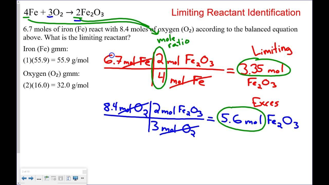Limiting Reactant Practice Problems