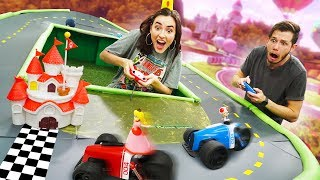 Playing Mario Kart IN REAL LIFE Challenge!
