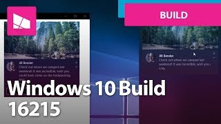 Windows 10 Build 16215 - Start, Action Center, Edge, Settings, Keyboard + MORE