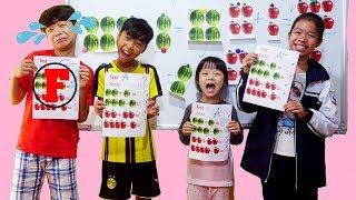 Hunter Kids Go To School Learn Colors Fruit Math | Classroom Funny Nursery Rhymes