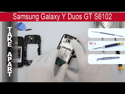 How to disassemble 📱 Samsung Galaxy Y Duos S6102, Take Apart, Tutorial