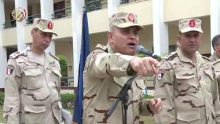الفريق أول صدقى صبحى يتفقد المنظومة التعليمية بأحد المعاهد التعليمية للقوات المسلحة