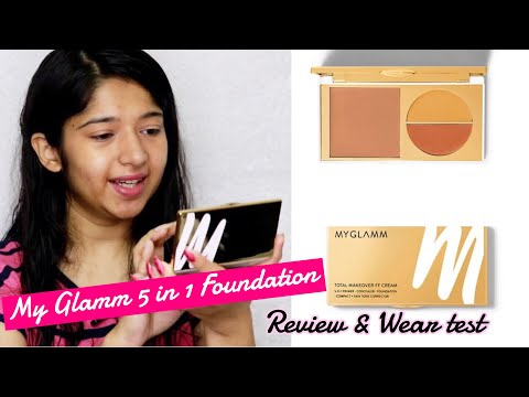 My Glamm FF Cream 5 In 1 Foundation Review And Wear Test | Is It Worth Buy? Glamorous Sapna