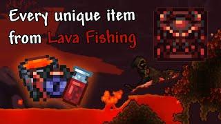 ALL UNIQUE items fŗom lava fishing - Terraria 1.4 item showcase