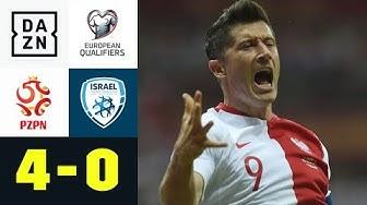 Robert Lewandowski und Krzysztof Piatek treffen bei Kantersieg: Polen - Israel 4:0 | EM-Quali | DAZN